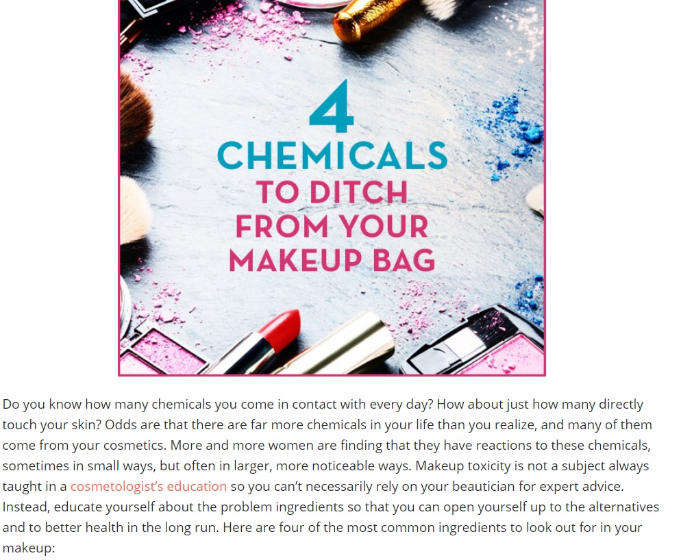 4 Chemicals to Ditch from Your Makeup Bag